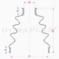 Маншон за каре 22x77x92 mm черен 4