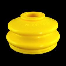 Маншон за шарнир / накрайник 19x52x36 mm жълт - тип 2